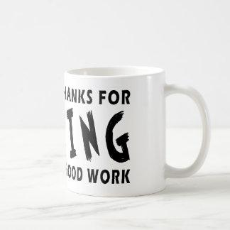 Chers mercis de Dieu du fonctionnement Tasse À Café