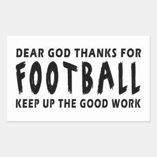 Chers mercis de Dieu du football Sticker Rectangulaire