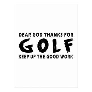 Chers mercis de Dieu du golf Carte Postale