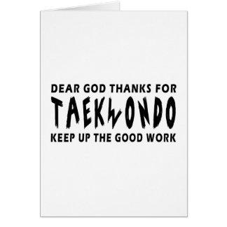 Chers mercis de Dieu du Taekwondo Carte