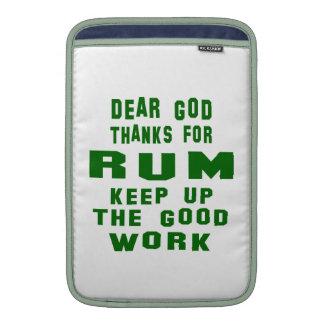 Chers mercis d'un dieu de rhum poche macbook air