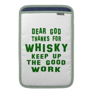 Chers mercis d'un dieu de whiskey poches macbook