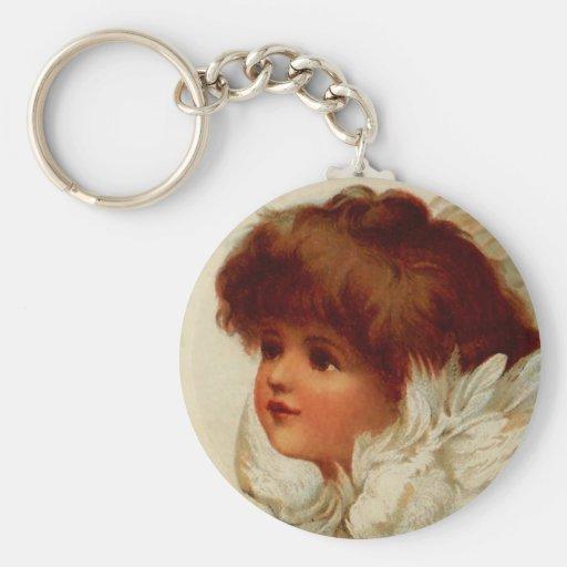 Cherub Angel Keychain
