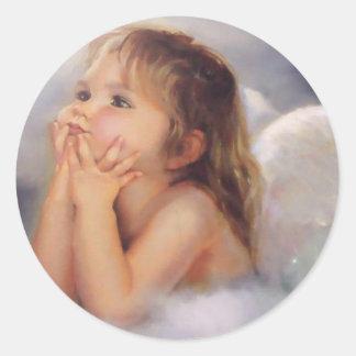 Cherub Angel Round Sticker