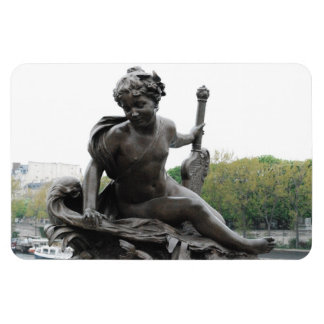 Cherub Angel Statue in Paris Rectangular Photo Magnet