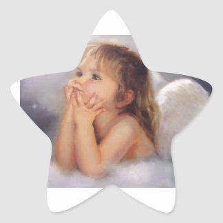 Cherub Angel Star Sticker