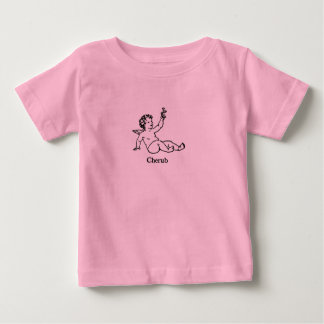 Cherub Angel with flower Baby T-Shirt