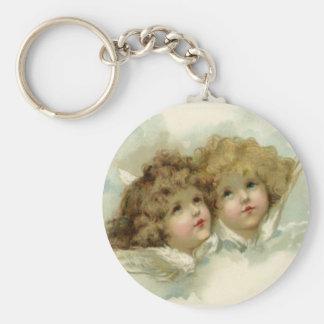 Cherub Angels Basic Round Button Keychain