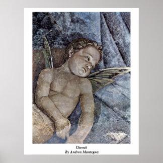 Cherub By Andrea Mantegna Poster