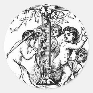 cherub-clip-art-7 round sticker