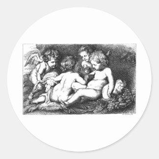 cherub-clip-art-9 round sticker