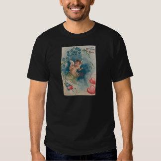 Cherub Cupid Cobweb Forget-Me-Not Heart T-shirts