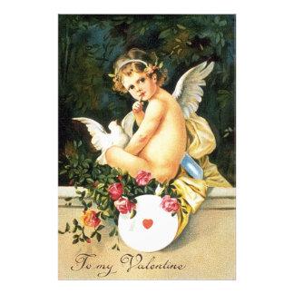 Cherub Cupid Dove Rose Heart Photograph