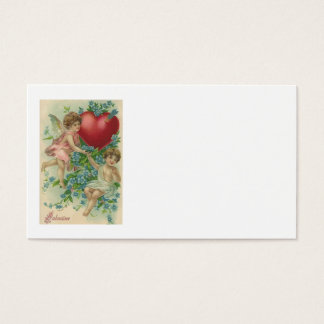 Cherub Cupid Heart Arrow Forget-Me-Nots Business Card