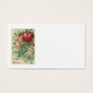 Cherub Cupid Heart Arrow Forget-Me-Nots Business Card