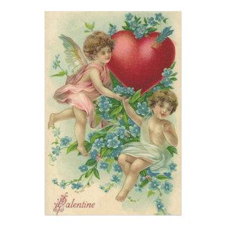 Cherub Cupid Heart Arrow Forget-Me-Nots Art Photo