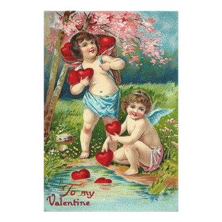 Cherub Cupid Heart Field Tree Photo Art