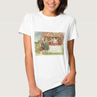 Cherub Cupid Rose Heart Stand Tshirts
