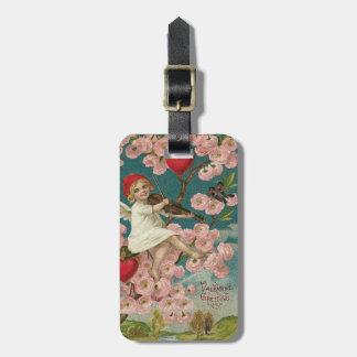 Cherub Cupid Rose Heart Violin Tree Bird Luggage Tag