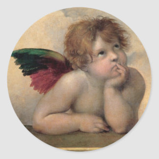 Cherub from Sistine Madonna by Raphael Classic Round Sticker