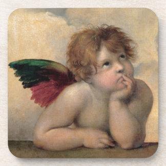 Cherub from Sistine Madonna by Raphael Coasters