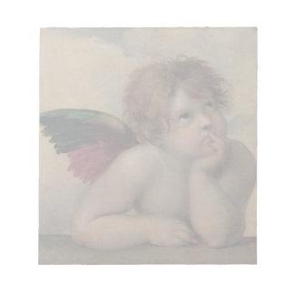 Cherub from Sistine Madonna by Raphael Notepad