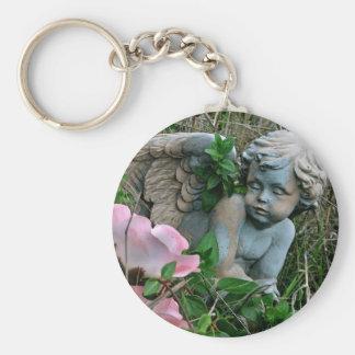 Cherub in the Grass Keychain