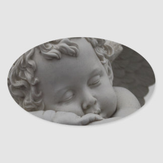 Cherub Oval Sticker