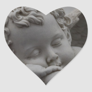 Cherub Heart Sticker
