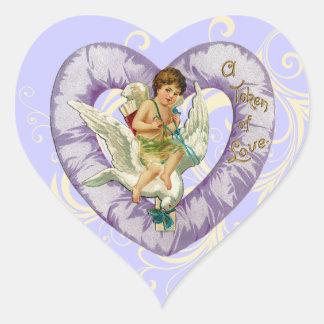 Cherub with Dove Valentine Stickers