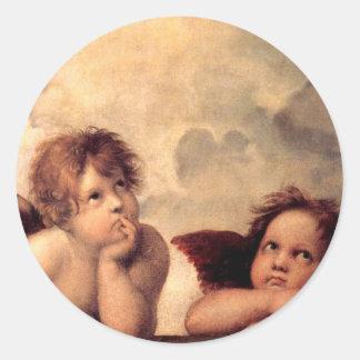 Cherubim - Raphael Classic Round Sticker