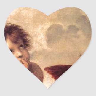 Cherubim - Raphael Heart Sticker