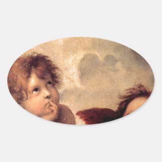 Cherubim - Raphael Oval Sticker