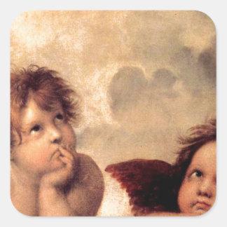 Cherubim - Raphael Square Sticker