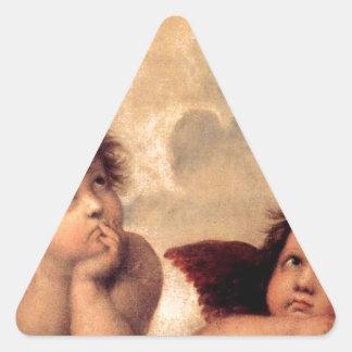 Cherubim - Raphael Triangle Sticker