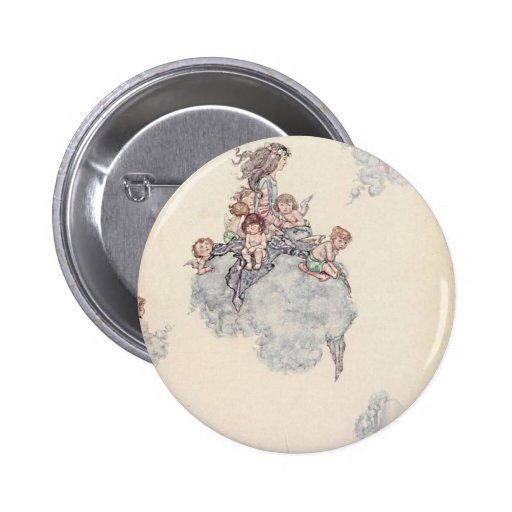 Cherubs and Angel Fairies Andersen's Fairy Tales Buttons