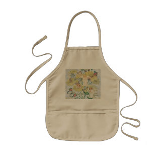 Cherubs, Butterflies and Flowers in Yellow Kids Apron
