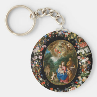 Cherubs Give Offerings to Christ Child Keychain