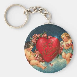 CHERUBS & HEARTS by SHARON SHARPE Keychains
