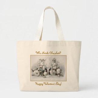Cherubs & Ice Cream: Valentine - Jumbo Tote #2 Jumbo Tote Bag