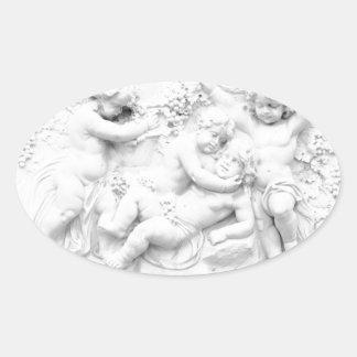 Cherubs Oval Sticker