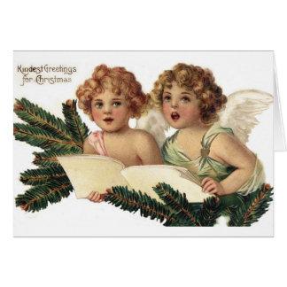 Cherubs Singing Carols Card