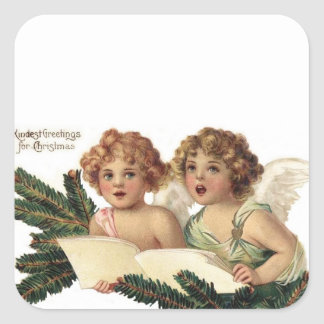 Cherubs Singing Carols Stickers