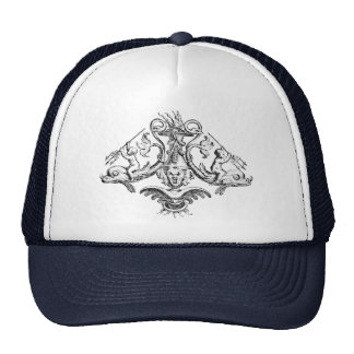 Cherubs with Tridents on Dolphins Trucker Hat