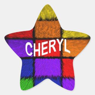 CHERYL STAR STICKER
