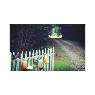 Chesapeake Bay Bouys and a Country Road Canvas Print