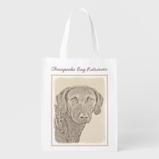 Chesapeake Bay Retriever Grocery Bags