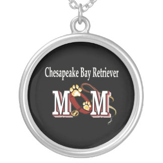 Chesapeake Bay Retriever Mom Gifts Silver Plated Necklace