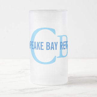 Chesapeake Bay Retriever Monogram Frosted Glass Beer Mug