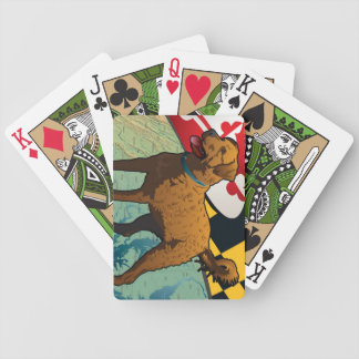 """Chesapeake Bay Retriever of Maryland, """"Chessie"""" Bicycle Playing Cards"""
